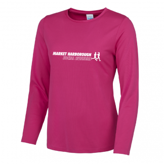 Market Harborough Social Runners Long Sleeve Ladies Fit T-Shirt