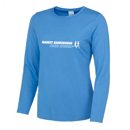 Market Harborough Social Runners Long Sleeve Ladies Fit T-Shirt