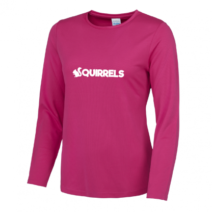 Squirrels Long Sleeve Ladies Fit T-Shirt