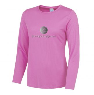 Stoke Golding Runners Hi-Viz Ladies Fit Long Sleeve T-Shirt