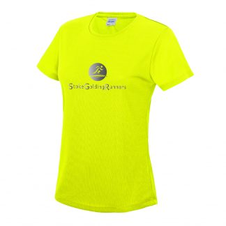 Stoke Golding Runners Hi-Viz Ladies Fit T-Shirt